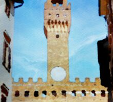 Florence  watercolor painting Sticker