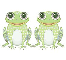 Chummy Twin Frogs Photographic Print