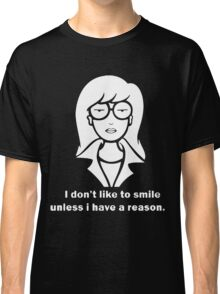 i dont like to smile Classic T-Shirt