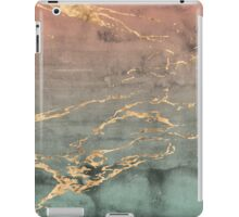 Marble gold coral mint gradient phone cover iPad Case/Skin