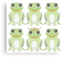 A Prince Among Frogs Canvas Print