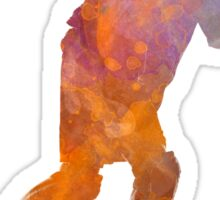 Man roller skater inline 03 in watercolor Sticker