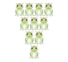 Royal Frog Formation (or Bowling Setup) by Jean Gregory  Evans