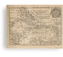 Vintage Map of The Caribbean (1763) Canvas Print