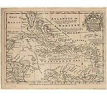 Vintage Map of The Caribbean (1763) Photographic Print