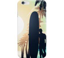 Surfing at Sunrise iPhone Case/Skin