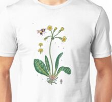 yellow cowslip and bee Unisex T-Shirt