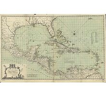 Vintage Map of The Caribbean (1774) Photographic Print