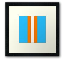 Gulf Racing Colours Framed Print