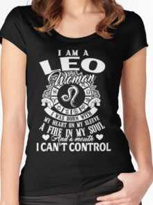 I am a Leo Woman Women's Fitted Scoop T-Shirt