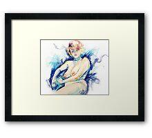 Isabella - Pastel Life Drawing Framed Print