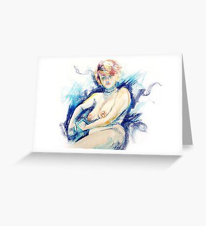 Isabella - Pastel Life Drawing Greeting Card