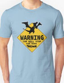 Warning: Car Will Stop For RARE Pokemon - Pokemon Go Gag Tee Shirt / Sticker Design.  Unisex T-Shirt