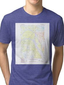 USGS TOPO Map Alaska AK Marshall D-1 357246 1952 63360 Tri-blend T-Shirt
