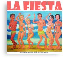 Playa Punta Mogotes por Diego Manuel  Canvas Print