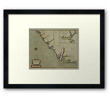 Vintage Map of The Carolinas (1702) Framed Print