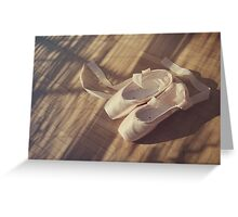 Ballet dance shoes Greeting Card