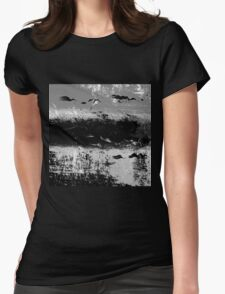BIRDS ON THE SEA Womens Fitted T-Shirt