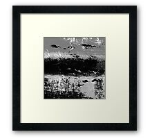 BIRDS ON THE SEA Framed Print