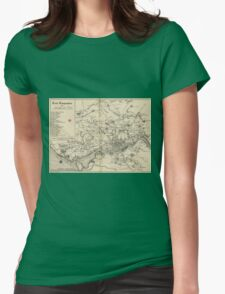 Vintage Map of Porto Portugal (1835) Womens Fitted T-Shirt