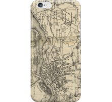 Vintage Map of Porto Portugal (1835) iPhone Case/Skin