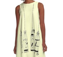 bird in a cage A-Line Dress