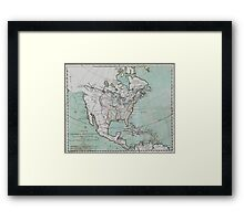 Vintage Map of North America (1743) Framed Print