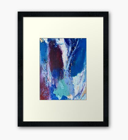 Colourful Abstract Oil Pastel Design Framed Print