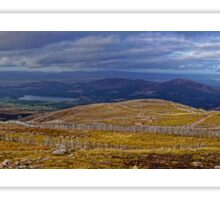From Cairn Gorm Mountain in Autumn:  a panorama Sticker