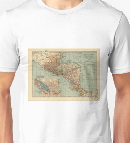 Vintage Map of Central America (1902) Unisex T-Shirt