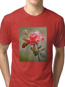 """Peace Rose"" Tri-blend T-Shirt"