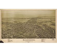 Vintage Pictorial Map of Chambersburg PA (1894) Photographic Print
