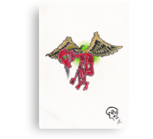 Flying Hate Canvas Print