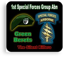 1st Special Forces Group (Abn) Canvas Print