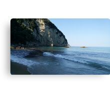 Beautiful view of the beach . Corfu. Greece Canvas Print