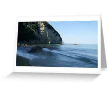 Beautiful view of the beach . Corfu. Greece Greeting Card