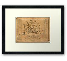 Vintage Map of Charleston South Carolina (1790) Framed Print