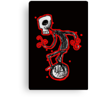 cyclops on a unicycle Canvas Print