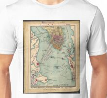 Vintage Charleston SC Civil War Map (1865) Unisex T-Shirt