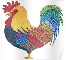 Sunrise Rooster Poster