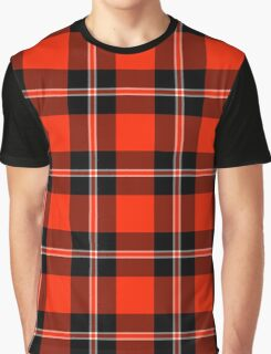 Tartan Red Black Madras Plaid Graphic T-Shirt