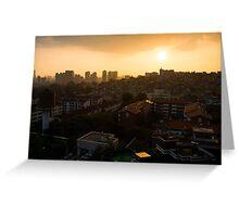 HBC Sunset, Seoul Greeting Card