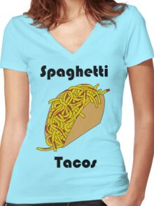 Spaghetti Taco Women's Fitted V-Neck T-Shirt