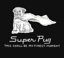 Super Pug - This Shall Be My Finest Moment. Kids Clothes