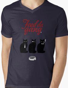 Feed da gang of cats Mens V-Neck T-Shirt