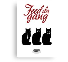 Feed da gang of cats Canvas Print