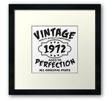 Vintage 1972  Framed Print