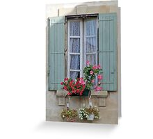 Window In The Shade Greeting Card
