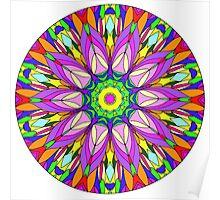Colourful Flower Mandala Poster