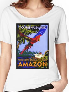 """""""AMAZON BRAZIL RIVER"""" Vintage Cruise Print Women's Relaxed Fit T-Shirt"""